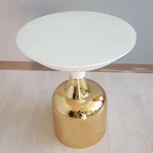 Lotus-Yan sehpa-Beyaz gold26