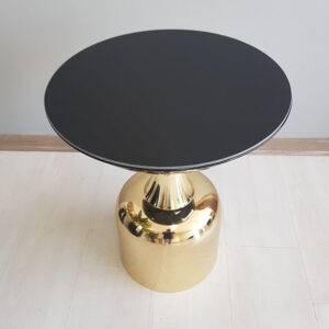 Lotus-yan sehpa-siyah gold28